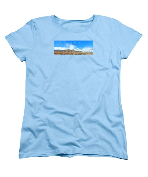 Women's T-Shirt (Standard Cut) featuring the photograph It Snowed Last Night by Marilyn Diaz