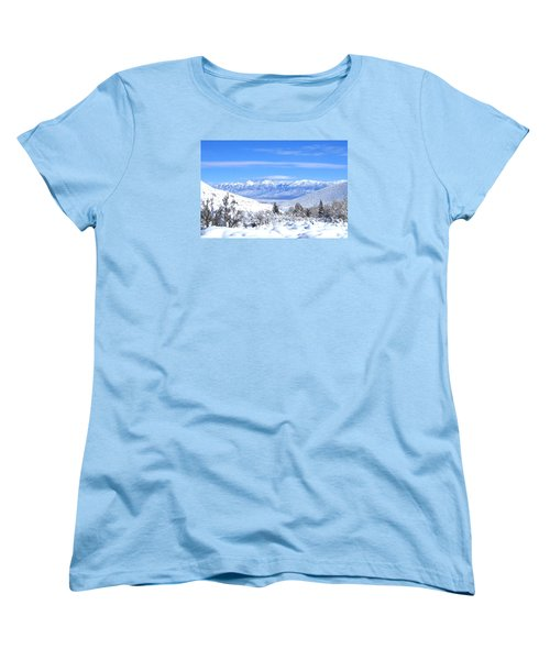 Women's T-Shirt (Standard Cut) featuring the photograph It Snowed by Marilyn Diaz