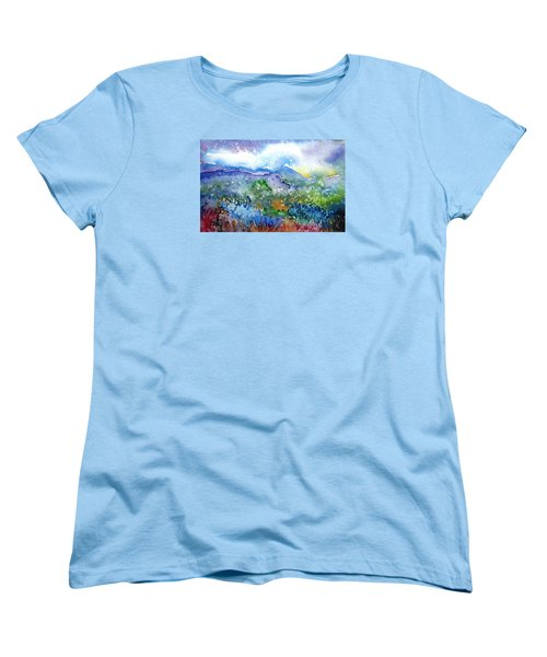 It Sometimes Rains In Tuscany Too  Women's T-Shirt (Standard Cut) by Trudi Doyle