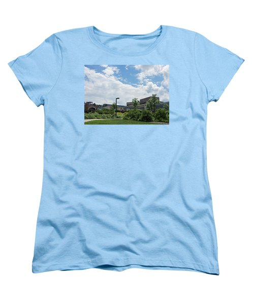 Ithaca College Campus Women's T-Shirt (Standard Cut) by Photographic Arts And Design Studio