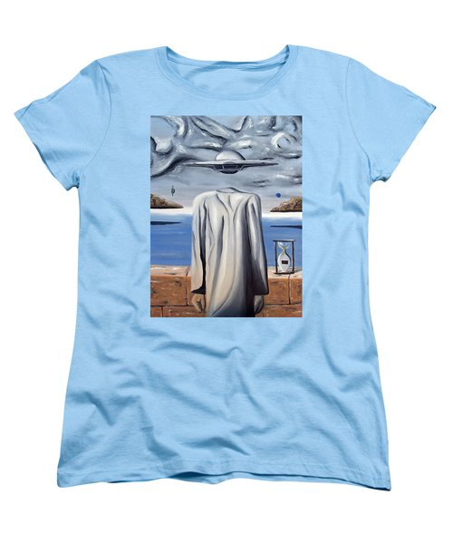 Women's T-Shirt (Standard Cut) featuring the painting Its All In Your Head by Ryan Demaree
