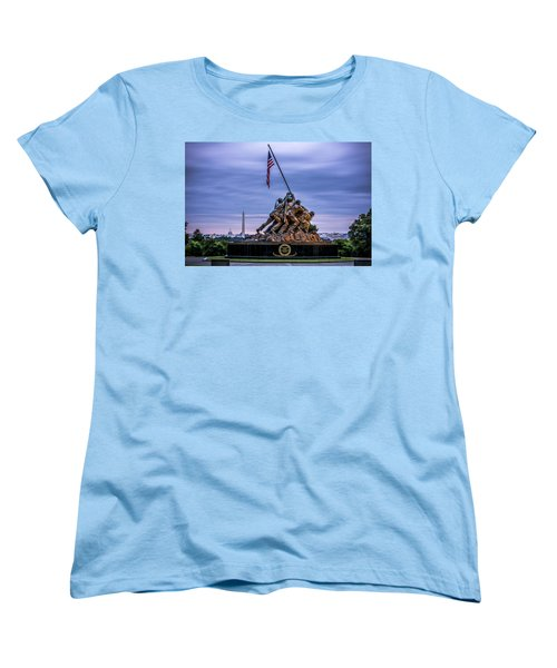 Iwo Jima Monument Women's T-Shirt (Standard Cut) by David Morefield