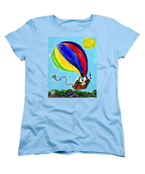Women's T-Shirt (Standard Cut) featuring the painting Jack And Charlie Fly Away by Jackie Carpenter
