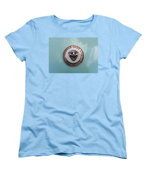 Women's T-Shirt (Standard Cut) featuring the photograph Jaguar Hood Emblem by Cheryl Hoyle