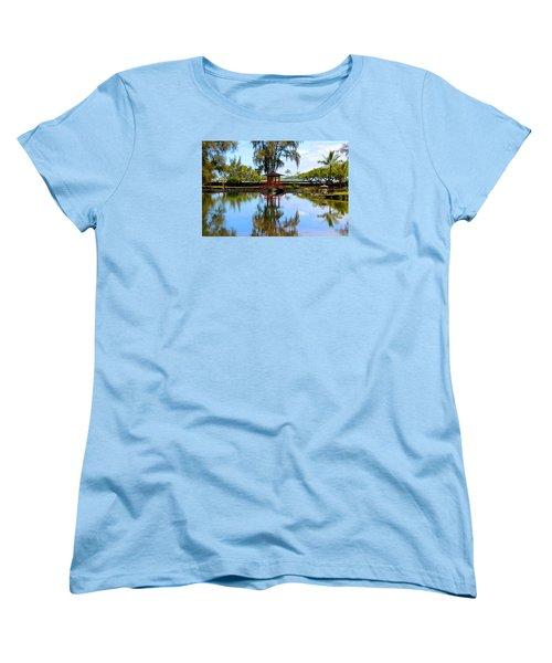 Japanese Gardens Women's T-Shirt (Standard Cut) by Venetia Featherstone-Witty