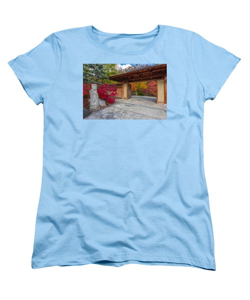 Japanese Main Gate Women's T-Shirt (Standard Cut) by Sebastian Musial