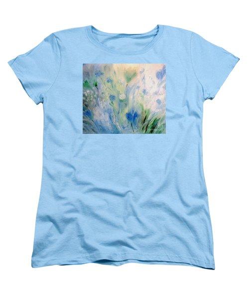Jardin Bleu Women's T-Shirt (Standard Cut) by Julie Brugh Riffey