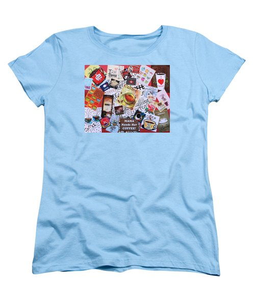 Java Lover's Collage Women's T-Shirt (Standard Cut) by Natalie Ortiz