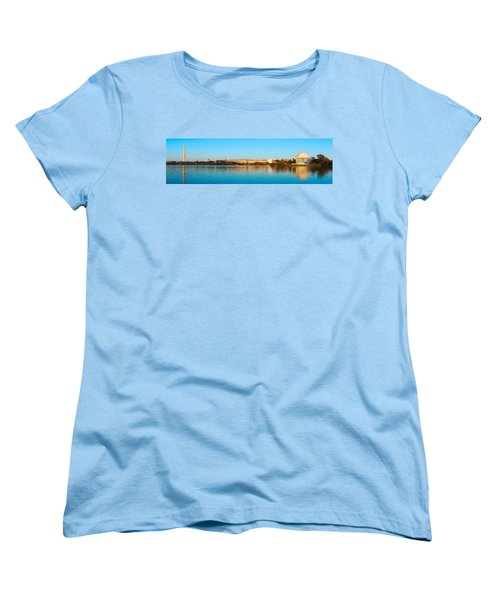 Jefferson Memorial And Washington Women's T-Shirt (Standard Cut) by Panoramic Images