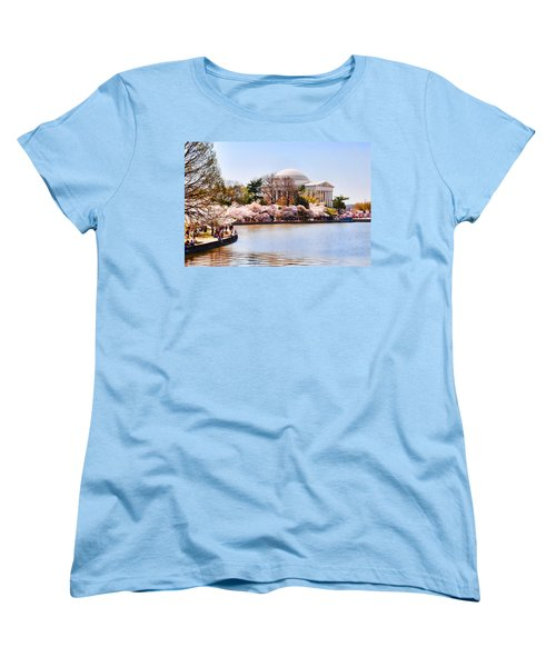 Jefferson Memorial Washington Dc Women's T-Shirt (Standard Cut) by Vizual Studio