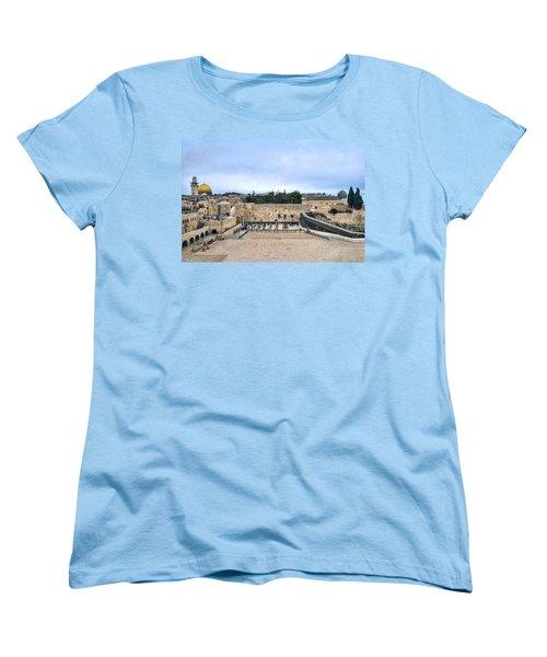 Jerusalem The Western Wall Women's T-Shirt (Standard Cut) by Ron Shoshani