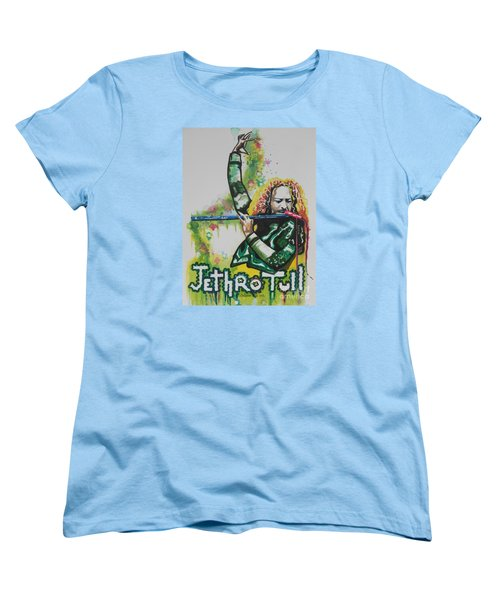 Jethro Tull Women's T-Shirt (Standard Cut) by Chrisann Ellis