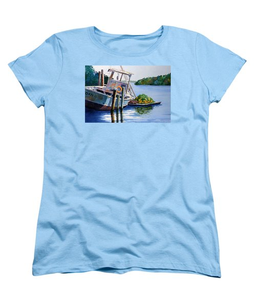 Women's T-Shirt (Standard Cut) featuring the painting Joan II And Mates by Roger Rockefeller