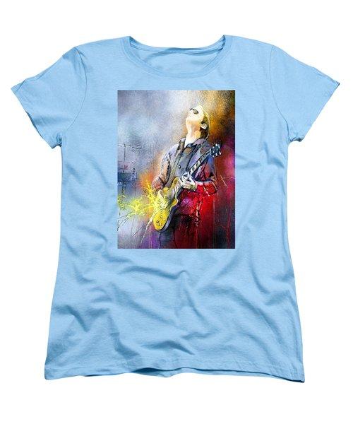 Joe Bonamassa 02 Women's T-Shirt (Standard Cut) by Miki De Goodaboom