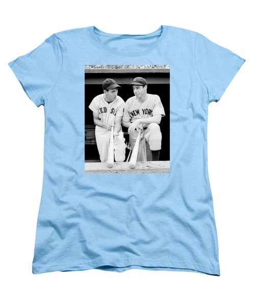 Joe Dimaggio And Ted Williams Women's T-Shirt (Standard Cut) by Gianfranco Weiss