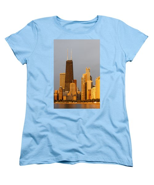 John Hancock Center Chicago Women's T-Shirt (Standard Cut) by Adam Romanowicz