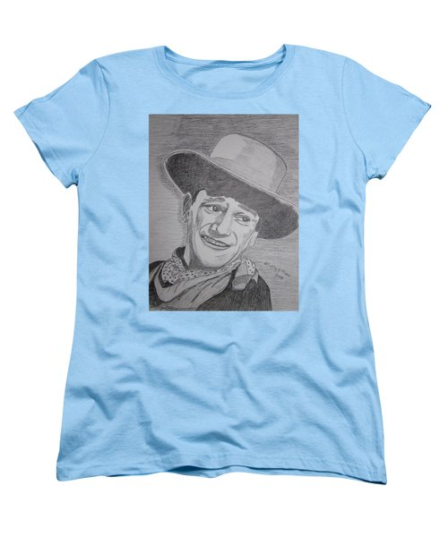 John Wayne Women's T-Shirt (Standard Cut) by Kathy Marrs Chandler