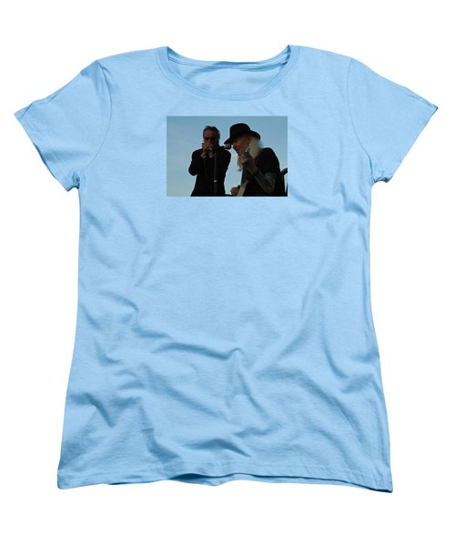 Women's T-Shirt (Standard Cut) featuring the photograph Johnny Winter And James Montgomery Playing The Blues by Mike Martin