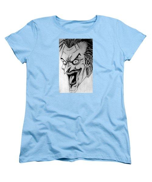 Women's T-Shirt (Standard Cut) featuring the painting Joker by Salman Ravish
