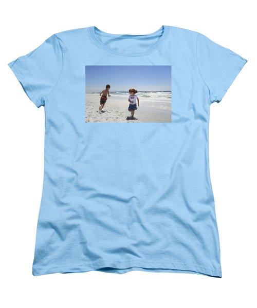 Joyful Play Of Children Women's T-Shirt (Standard Cut) by Charles Beeler