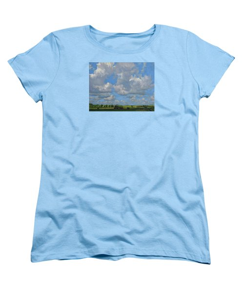 July In The Valley Women's T-Shirt (Standard Cut) by Bruce Morrison