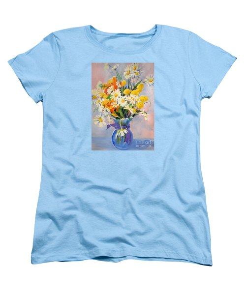 July Summer Arrangement  Women's T-Shirt (Standard Cut) by Kathy Braud