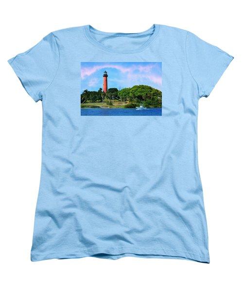Jupiter Lighthouse Women's T-Shirt (Standard Cut) by Laura Fasulo