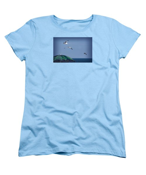 Women's T-Shirt (Standard Cut) featuring the photograph Just Another Day At The Beach by Phil Mancuso