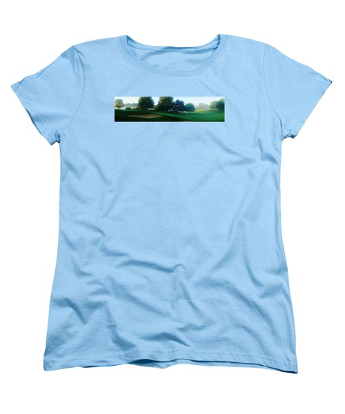 Just Off The Green Women's T-Shirt (Standard Cut) by Daniel Thompson