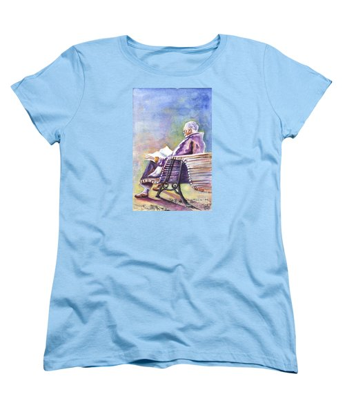 Women's T-Shirt (Standard Cut) featuring the painting Just Passing The Time Away by Carol Wisniewski