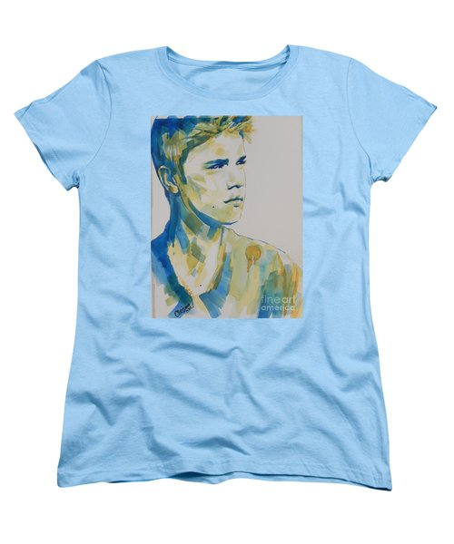 Justin Bieber Women's T-Shirt (Standard Cut) by Chrisann Ellis