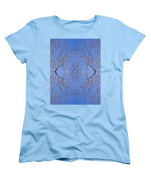 Kaleidoscope - Trees 1 Women's T-Shirt (Standard Cut) by Andy Shomock