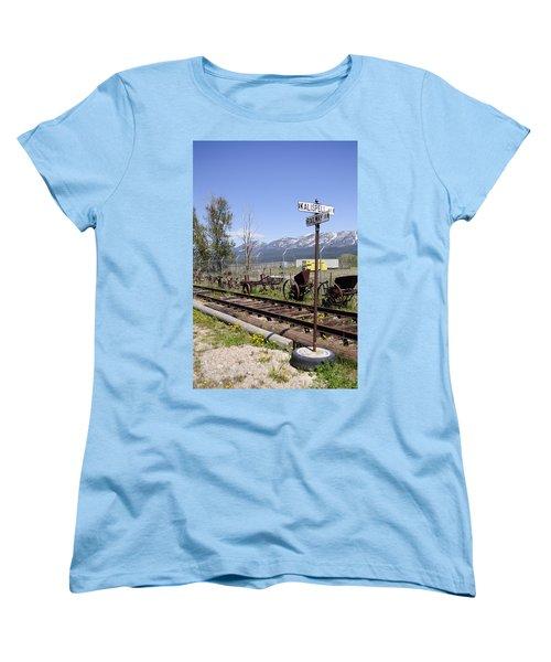 Kalispell Crossing Women's T-Shirt (Standard Cut) by Fran Riley