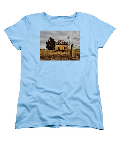 Women's T-Shirt (Standard Cut) featuring the photograph Kansas Castle 1 by Lynne Wright