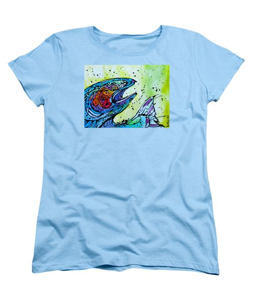 Women's T-Shirt (Standard Cut) featuring the painting Karl by Nicole Gaitan