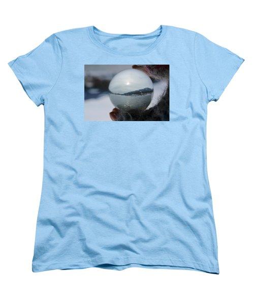Kaslo Winter Women's T-Shirt (Standard Cut) by Cathie Douglas