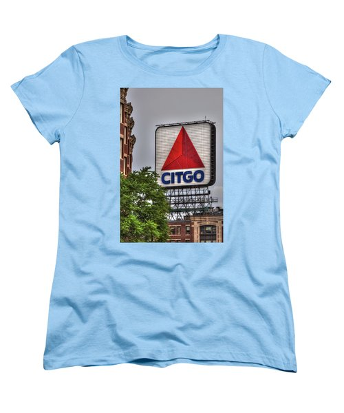 Kenmore Square And The Citgo Sign Women's T-Shirt (Standard Cut) by Joann Vitali