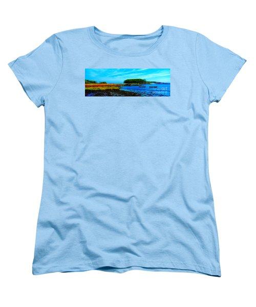 Women's T-Shirt (Standard Cut) featuring the photograph Kennepunkport Vaughn Island  by Tom Jelen