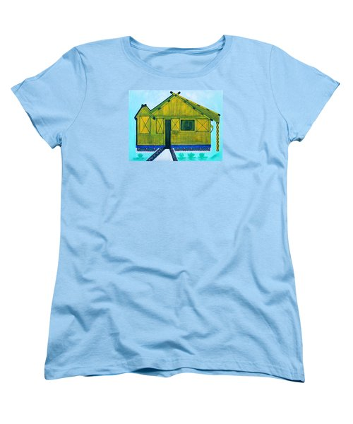 Women's T-Shirt (Standard Cut) featuring the painting Kiddie House by Lorna Maza