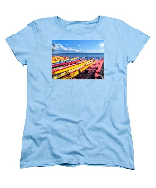 Women's T-Shirt (Standard Cut) featuring the photograph Kihei Canoe Club 6 by Dawn Eshelman