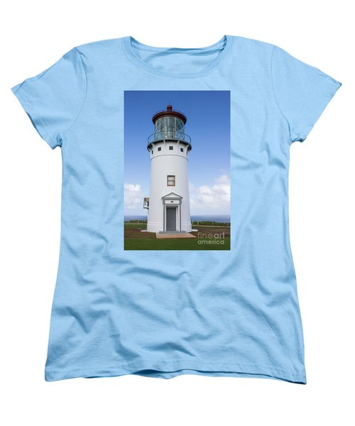 Women's T-Shirt (Standard Cut) featuring the photograph Kilauea Lighthouse by Suzanne Luft