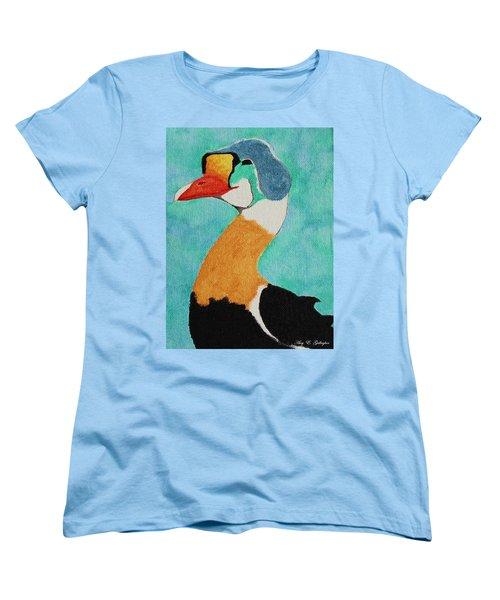 King Eider Women's T-Shirt (Standard Cut) by Amy Gallagher