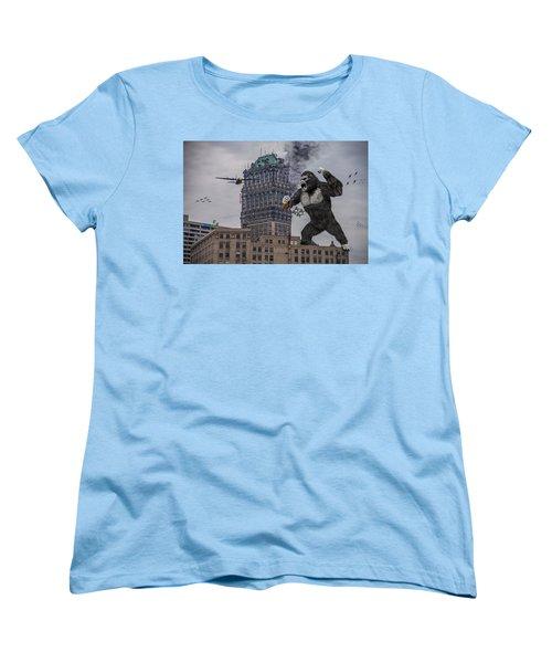 Women's T-Shirt (Standard Cut) featuring the photograph King Kong In Detroit At Wurlitzer by Nicholas  Grunas