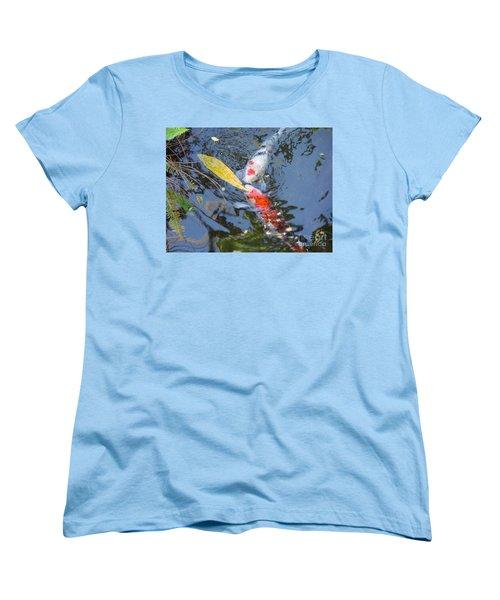 Kissin' Koi Women's T-Shirt (Standard Cut) by HEVi FineArt