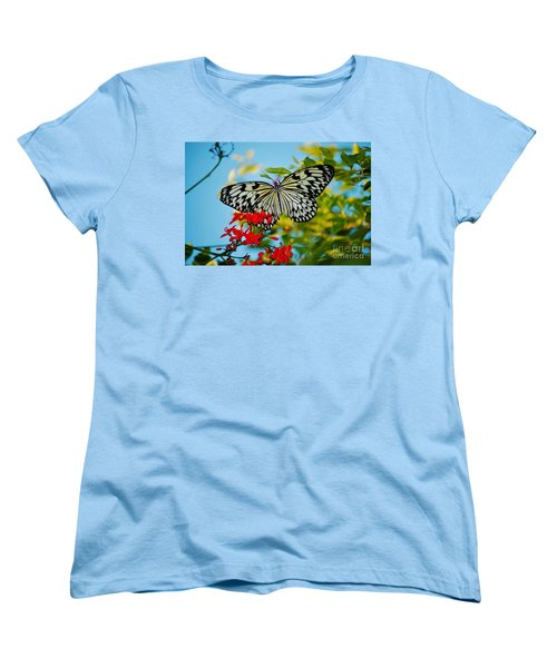 Women's T-Shirt (Standard Cut) featuring the photograph Kite Butterfly by Peggy Franz