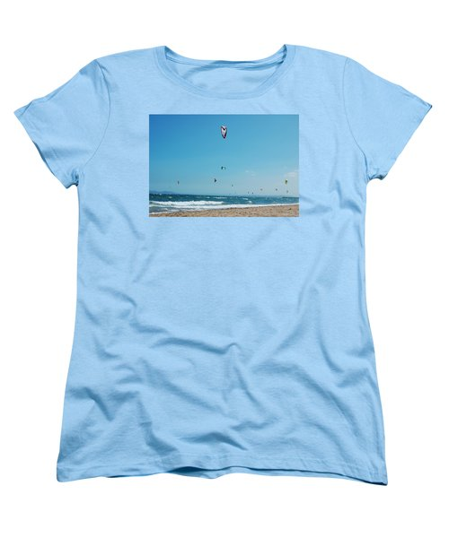 Kitesurf Lovers Women's T-Shirt (Standard Cut) by Gina Dsgn