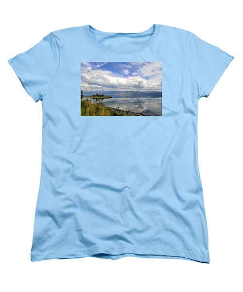 Women's T-Shirt (Standard Cut) featuring the photograph Kluane Reflections by Cathy Mahnke