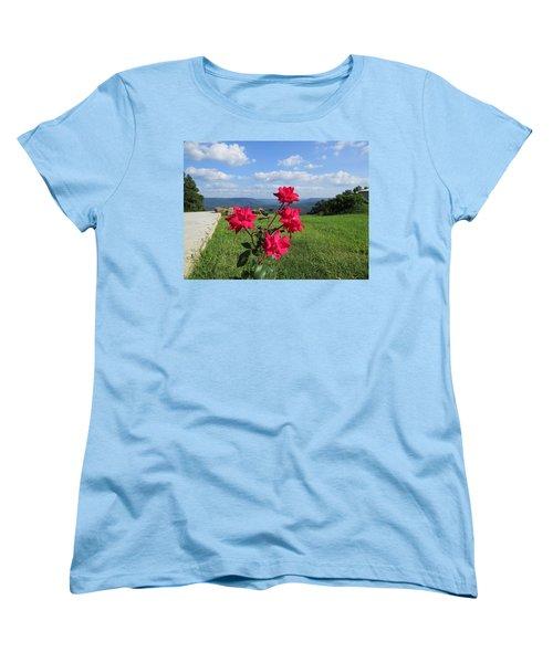 Knock Out Rose Women's T-Shirt (Standard Cut) by Aaron Martens