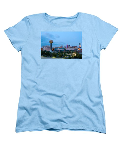 Knoxville At Dusk Women's T-Shirt (Standard Cut) by Melinda Fawver