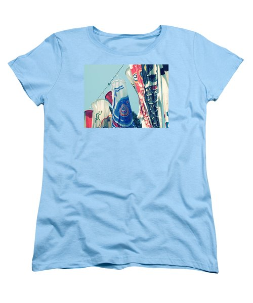 Koinobori Flags Women's T-Shirt (Standard Cut) by Rachel Mirror